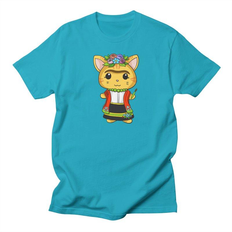 Frida Katlo Men's Regular T-Shirt by Dino & Panda Inc Artist Shop