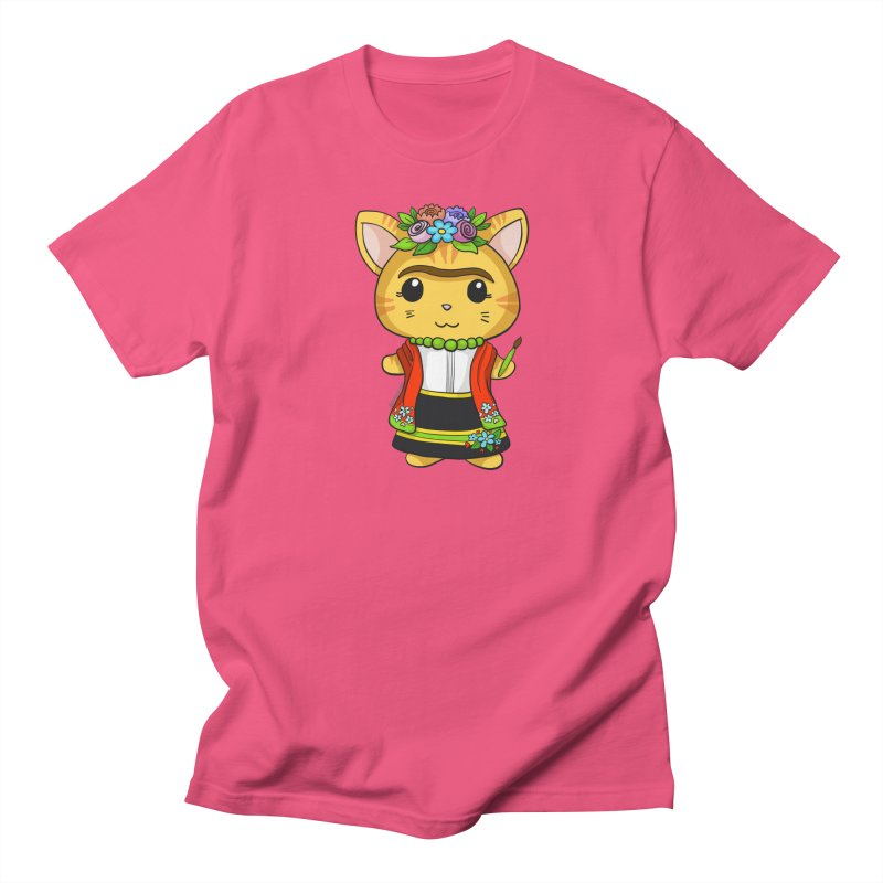 Frida Katlo Women's Regular Unisex T-Shirt by Dino & Panda Inc Artist Shop