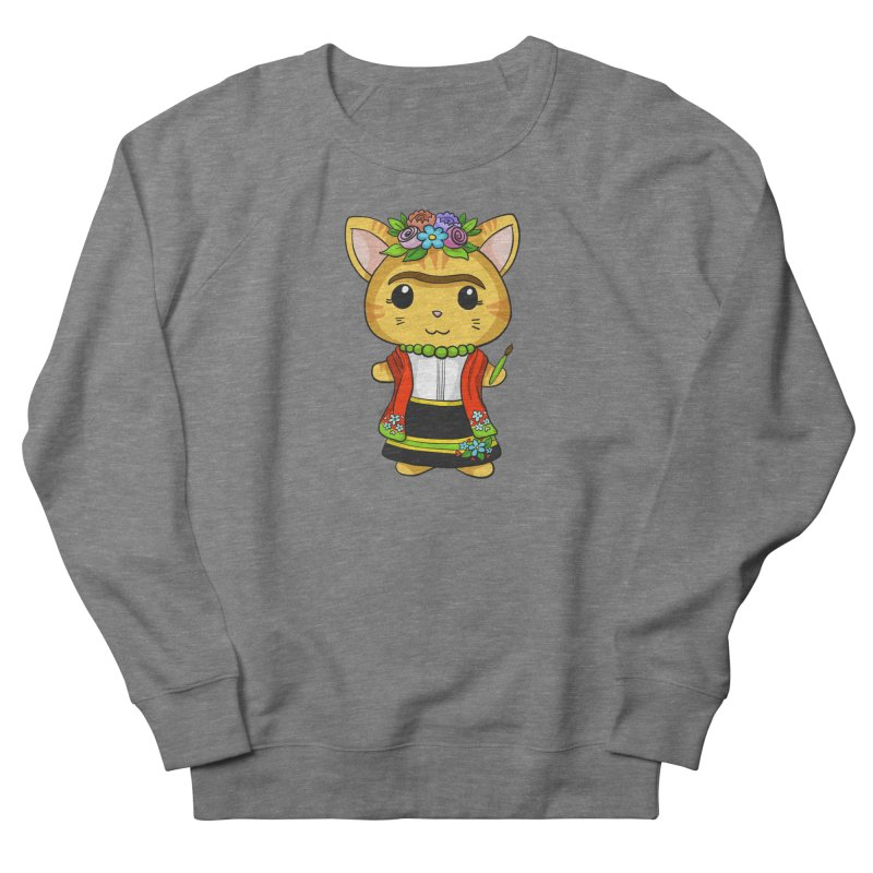 Frida Katlo Women's French Terry Sweatshirt by Dino & Panda Inc Artist Shop