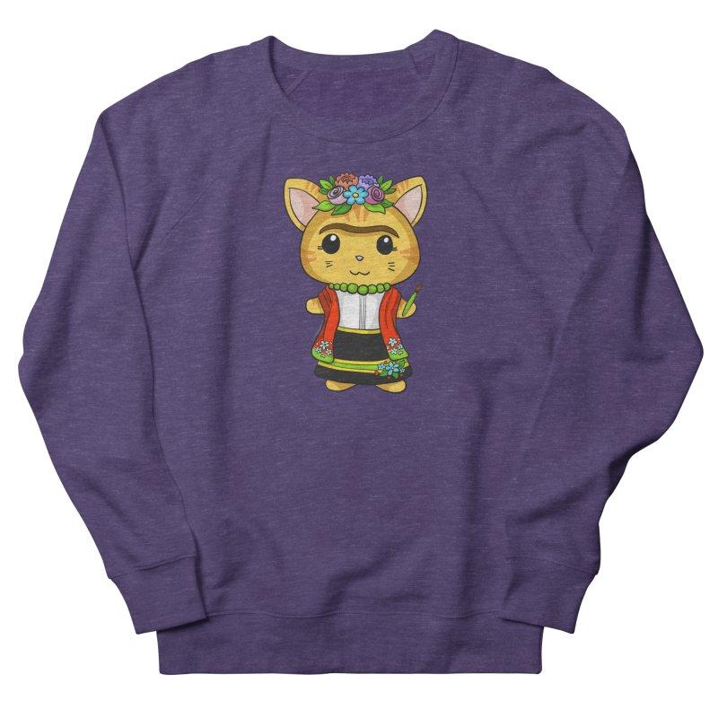 Frida Katlo Men's French Terry Sweatshirt by Dino & Panda Inc Artist Shop