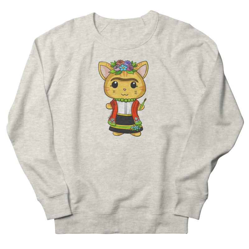 Frida Katlo Men's French Terry Sweatshirt by Dino & Panda Inc Artist Shop