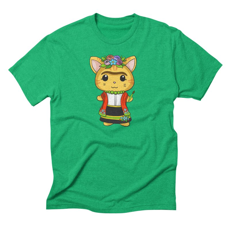 Frida Katlo Men's Triblend T-Shirt by Dino & Panda Inc Artist Shop