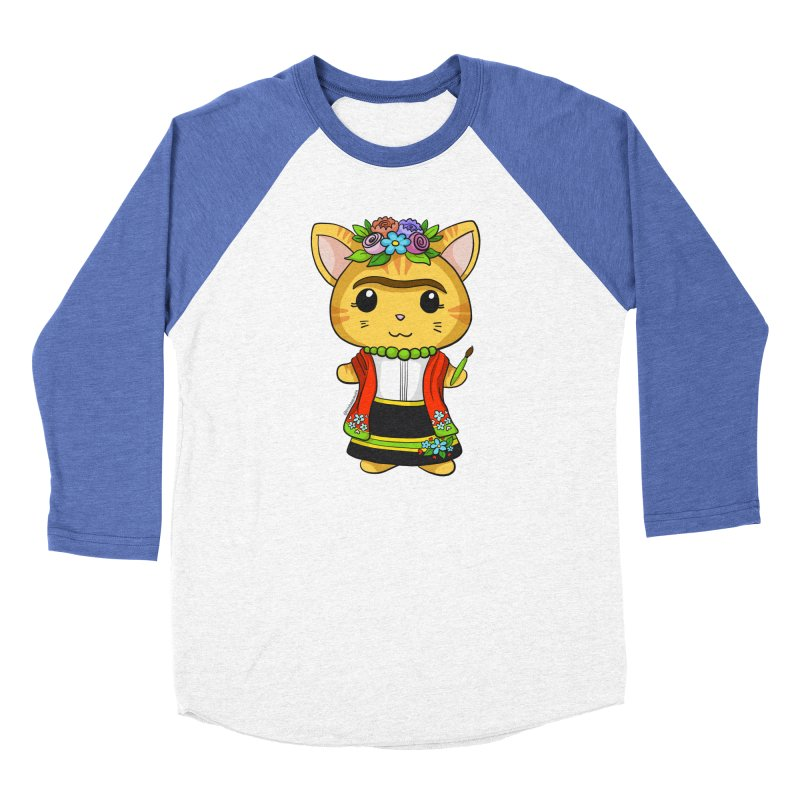 Frida Katlo Women's Baseball Triblend Longsleeve T-Shirt by Dino & Panda Inc Artist Shop