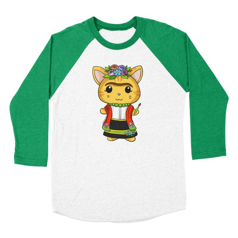 Frida Katlo Women's Baseball Triblend Longsleeve T-Shirt by Dino & Panda Inc Artist Shop