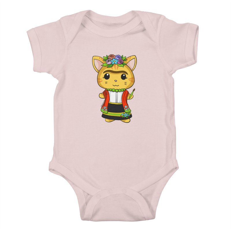 Frida Katlo Kids Baby Bodysuit by Dino & Panda Inc Artist Shop