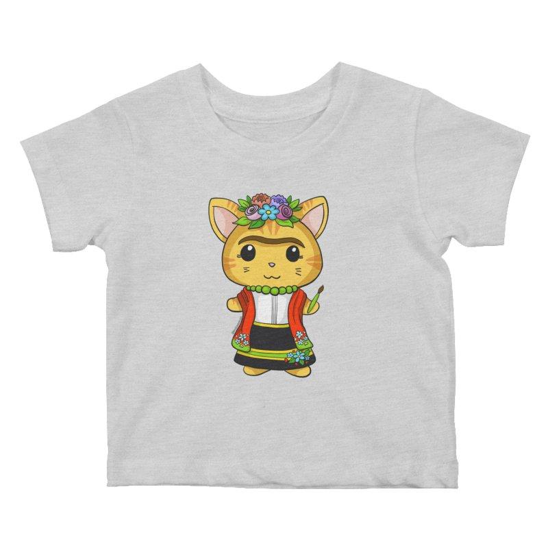 Frida Katlo Kids Baby T-Shirt by Dino & Panda Inc Artist Shop