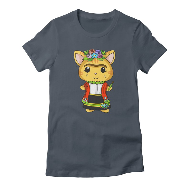 Frida Katlo Women's T-Shirt by Dino & Panda Artist Shop