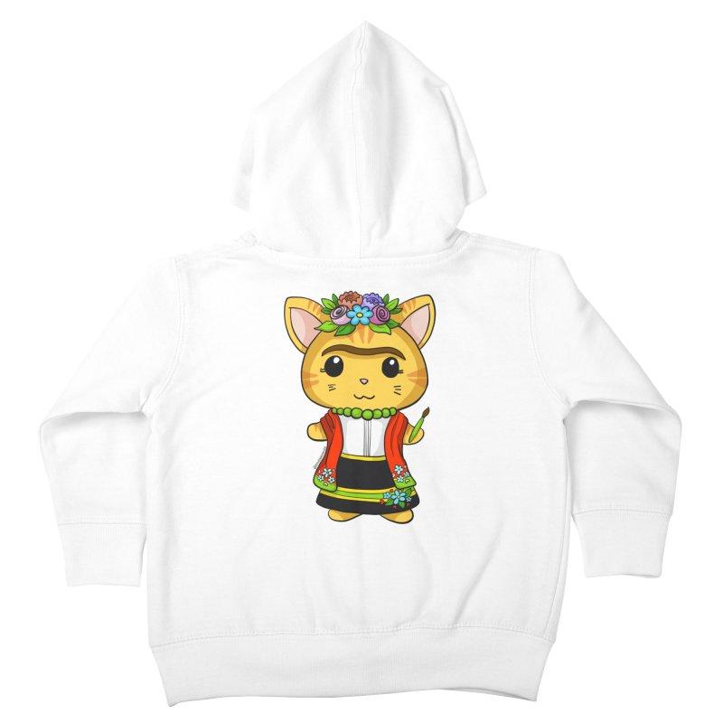 Frida Katlo Kids Toddler Zip-Up Hoody by Dino & Panda Artist Shop