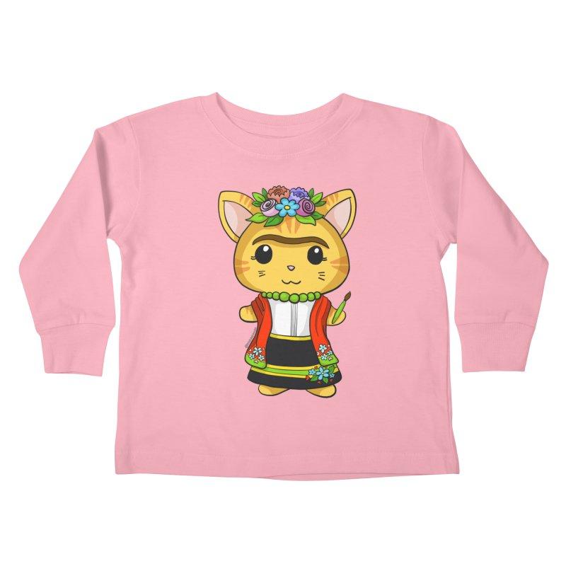 Frida Katlo Kids Toddler Longsleeve T-Shirt by Dino & Panda Inc Artist Shop