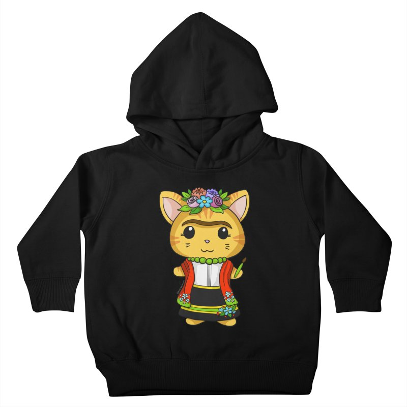 Frida Katlo Kids Toddler Pullover Hoody by Dino & Panda Inc Artist Shop