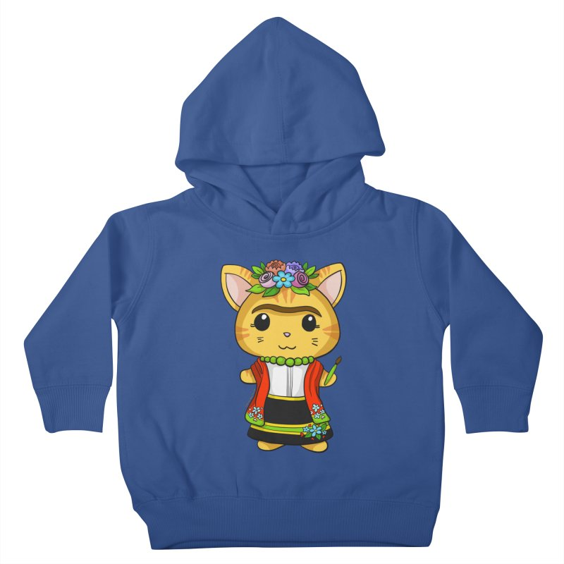 Frida Katlo Kids Toddler Pullover Hoody by Dino & Panda Inc Artist Shop