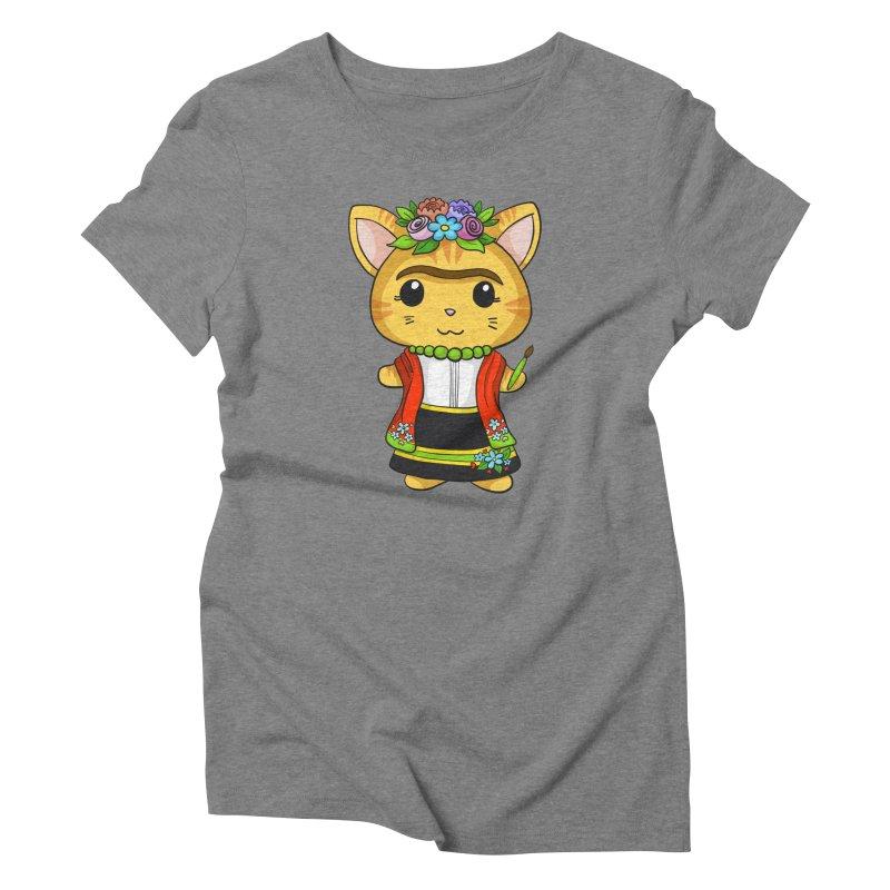 Frida Katlo Women's Triblend T-Shirt by Dino & Panda Inc Artist Shop
