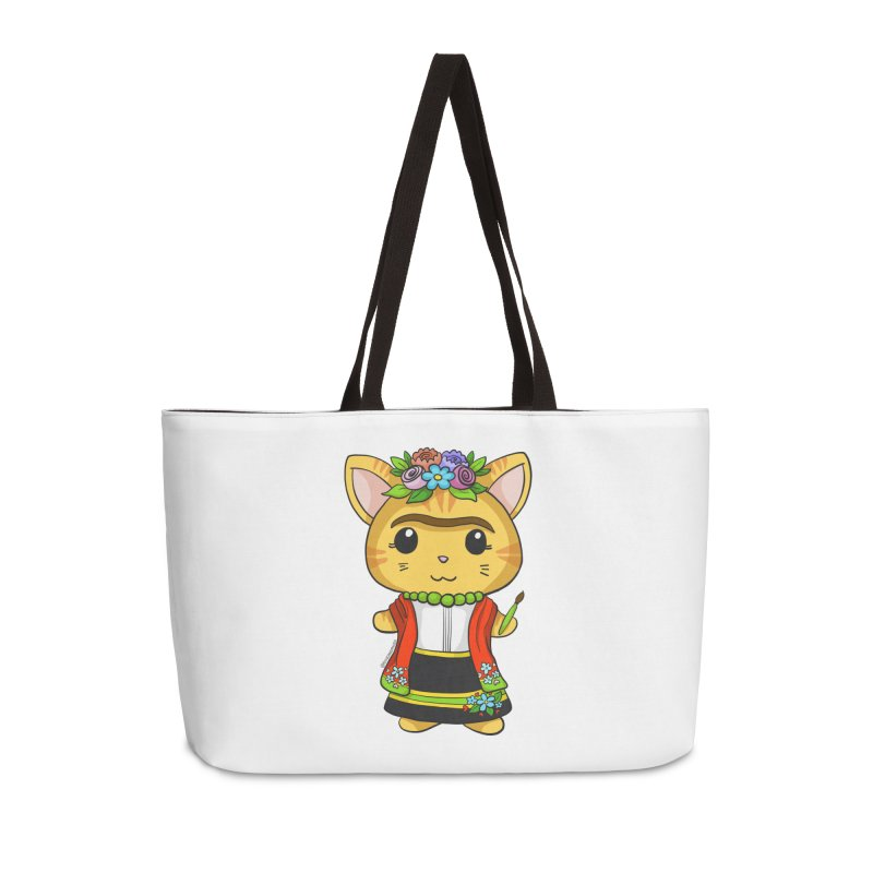 Frida Katlo Accessories Bag by Dino & Panda Artist Shop