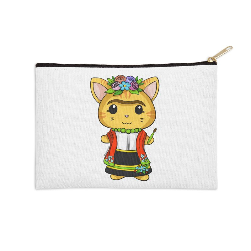 Frida Katlo Accessories Zip Pouch by Dino & Panda Inc Artist Shop