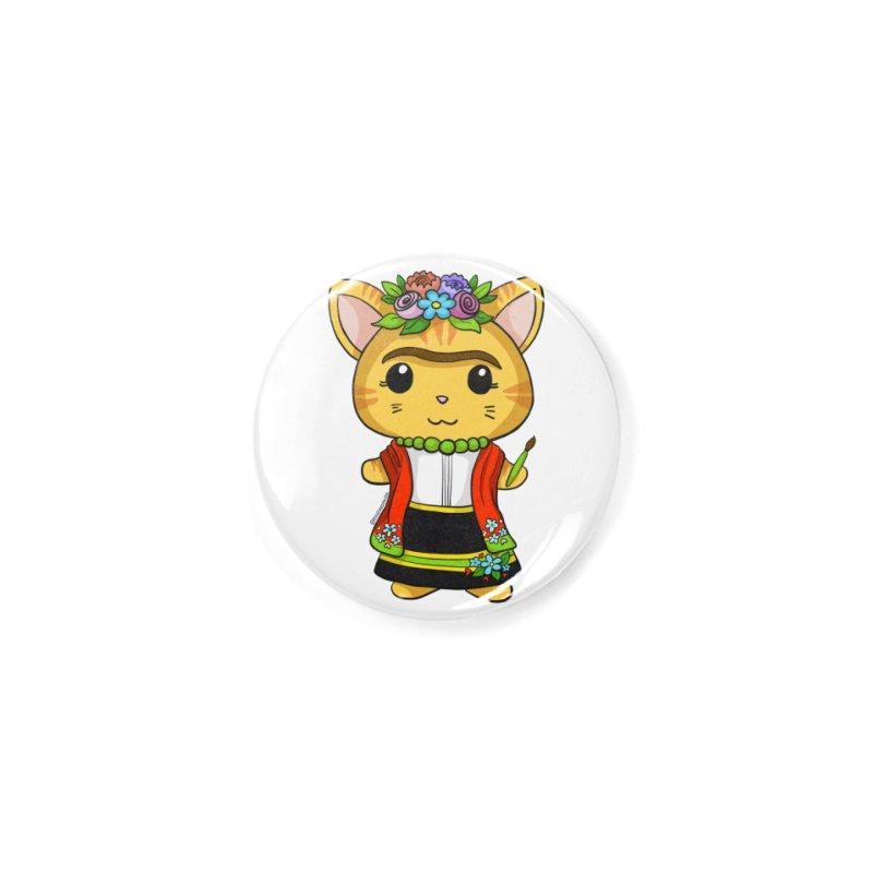 Frida Katlo Accessories Button by Dino & Panda Artist Shop