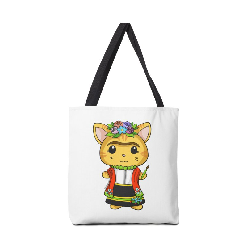 Frida Katlo Accessories Tote Bag Bag by Dino & Panda Inc Artist Shop