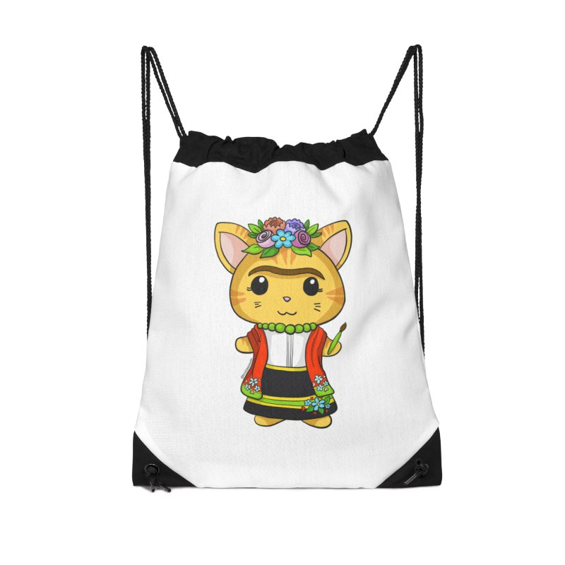 Frida Katlo Accessories Bag by Dino & Panda Artist Shop