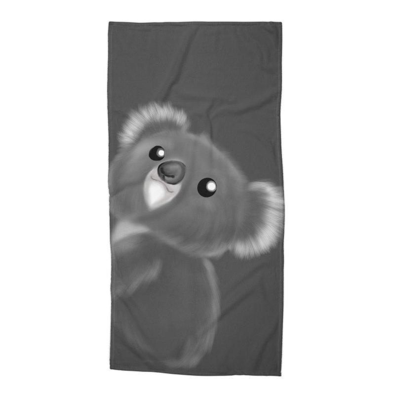 Fluffy Koala Accessories Beach Towel by Dino & Panda Artist Shop