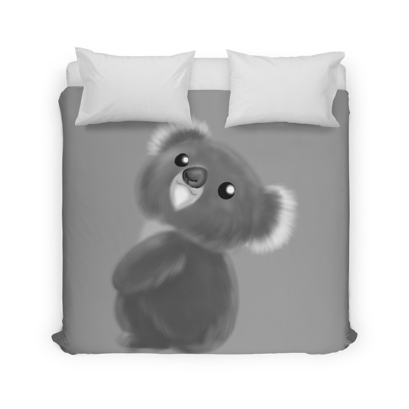 Fluffy Koala Home Duvet by Dino & Panda Inc Artist Shop