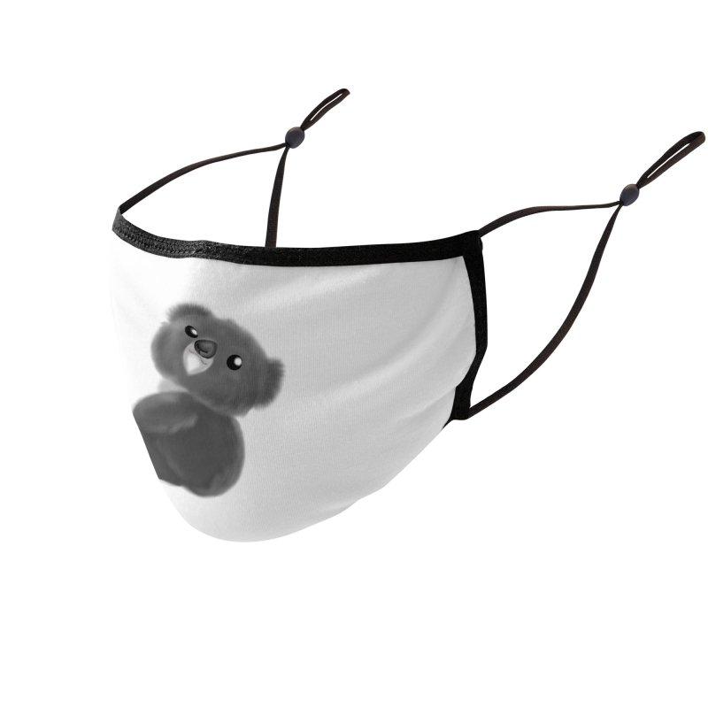 Fluffy Koala Accessories Face Mask by Dino & Panda Artist Shop