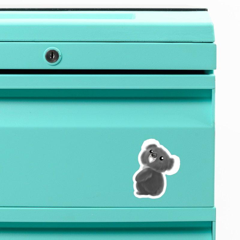 Fluffy Koala Accessories Magnet by Dino & Panda Inc Artist Shop