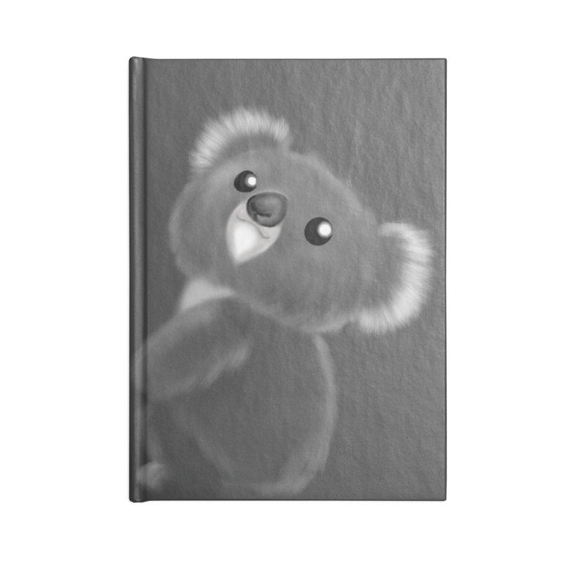Fluffy Koala Accessories Blank Journal Notebook by Dino & Panda Inc Artist Shop