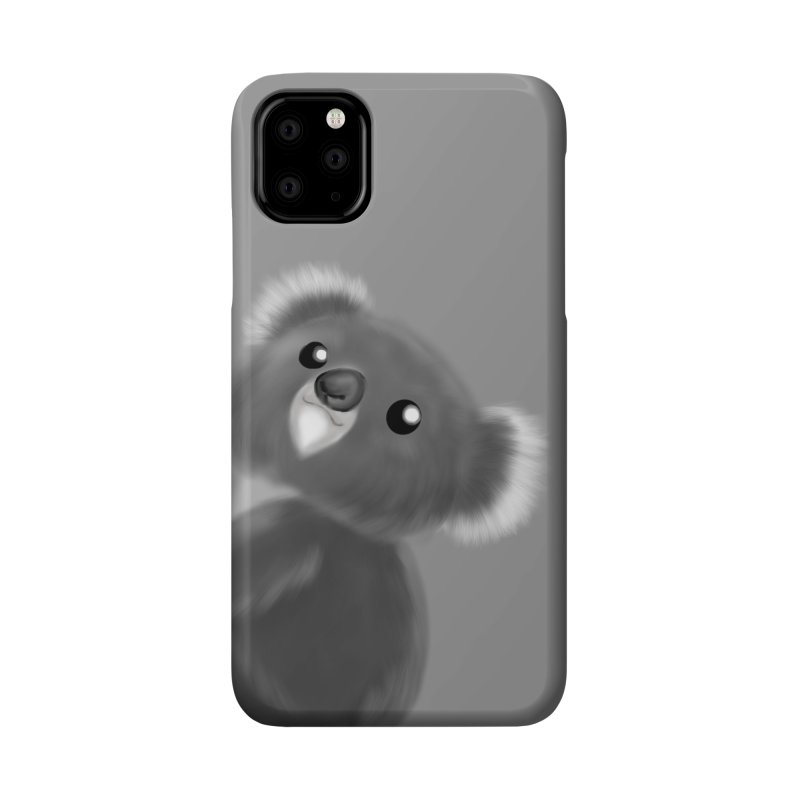 Fluffy Koala Accessories Phone Case by Dino & Panda Inc Artist Shop