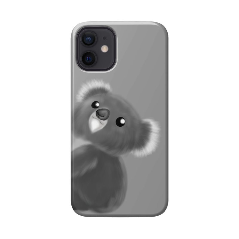 Fluffy Koala Accessories Phone Case by Dino & Panda Artist Shop