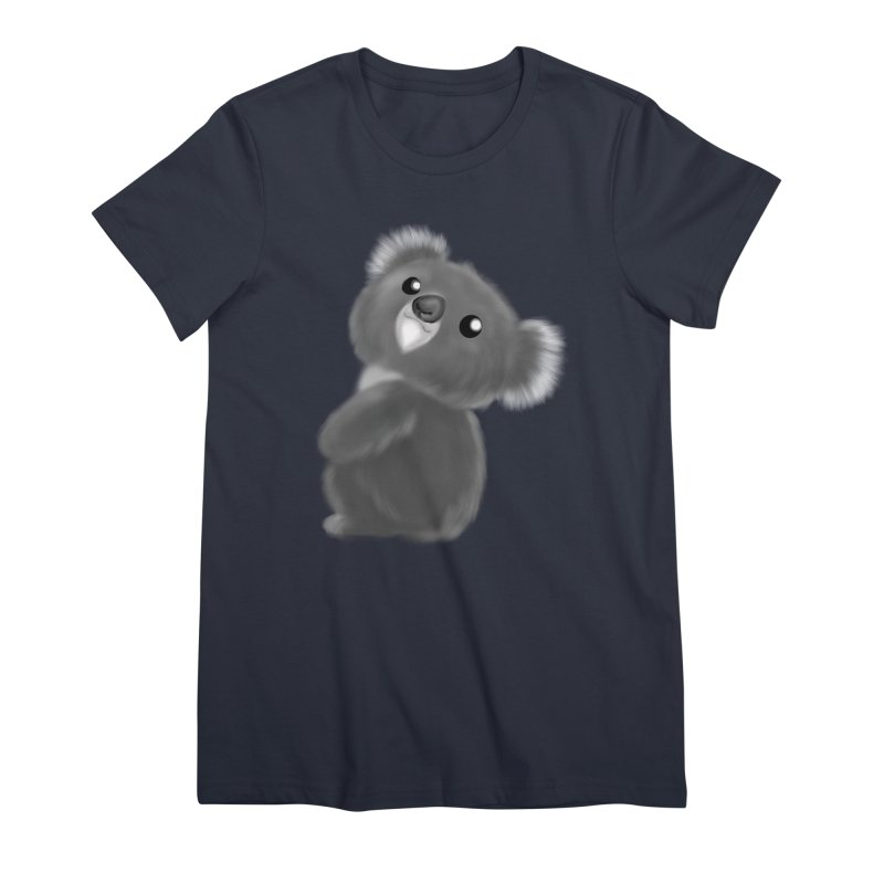 Fluffy Koala Women's Premium T-Shirt by Dino & Panda Inc Artist Shop