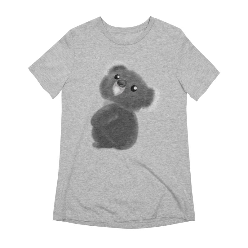 Fluffy Koala Women's Extra Soft T-Shirt by Dino & Panda Inc Artist Shop