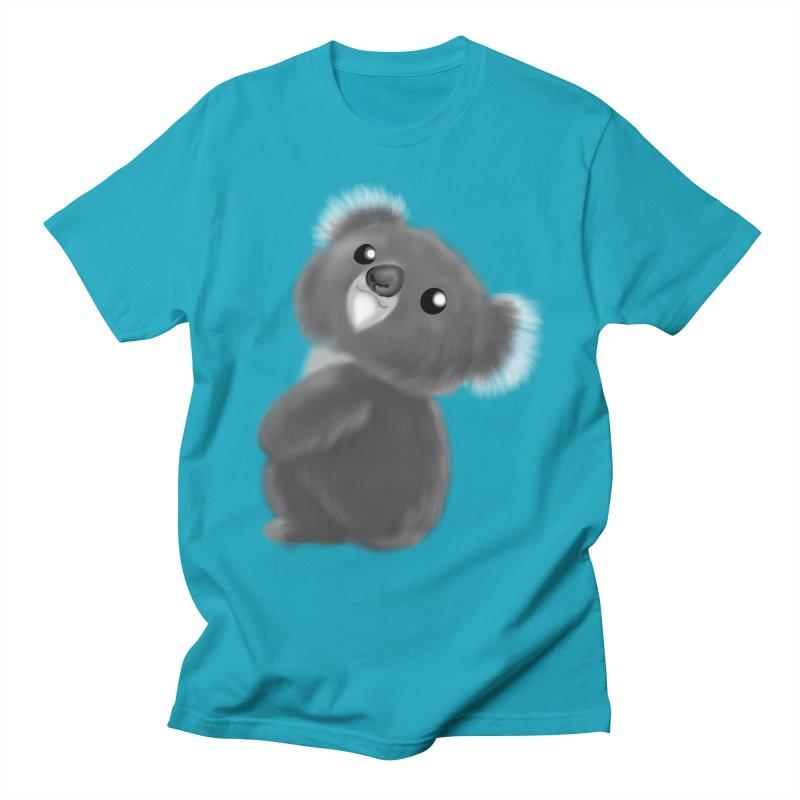 Fluffy Koala Men's T-Shirt by Dino & Panda Artist Shop