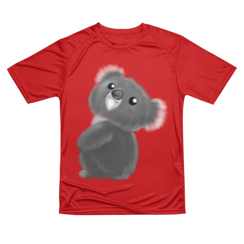 Fluffy Koala Women's Performance Unisex T-Shirt by Dino & Panda Inc Artist Shop