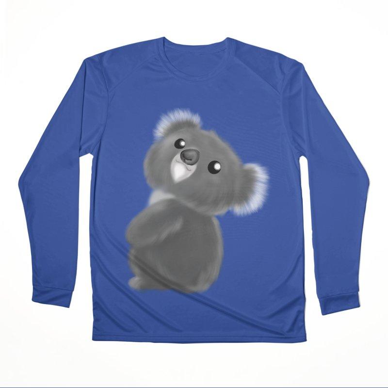 Fluffy Koala Men's Performance Longsleeve T-Shirt by Dino & Panda Inc Artist Shop