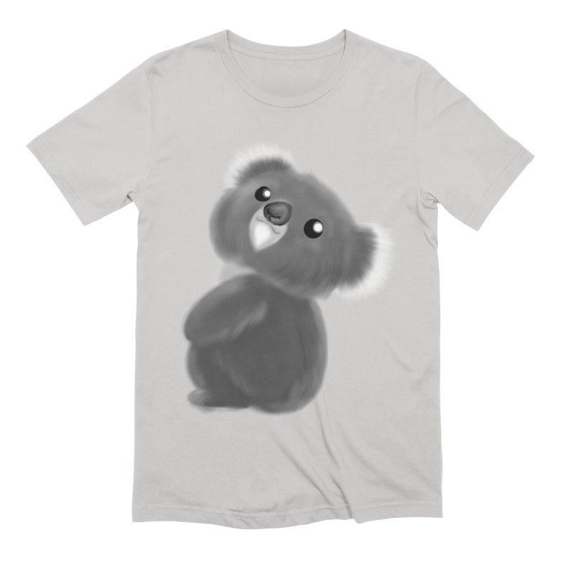 Fluffy Koala Men's Extra Soft T-Shirt by Dino & Panda Inc Artist Shop
