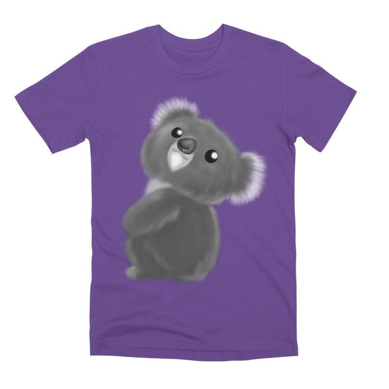 Fluffy Koala Men's Premium T-Shirt by Dino & Panda Inc Artist Shop