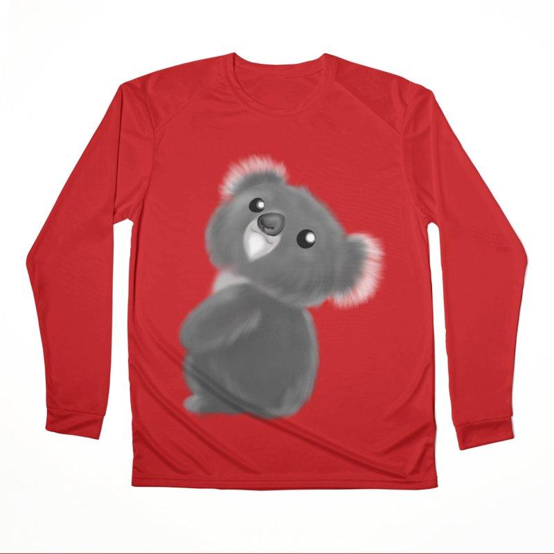 Fluffy Koala Women's Performance Unisex Longsleeve T-Shirt by Dino & Panda Inc Artist Shop