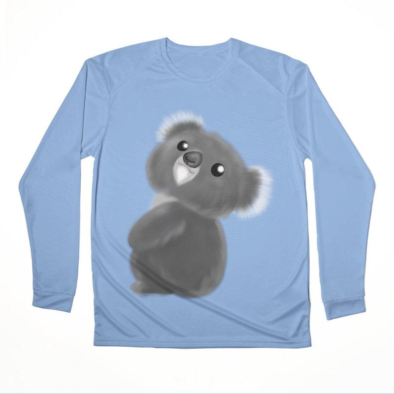 Fluffy Koala Women's Longsleeve T-Shirt by Dino & Panda Artist Shop