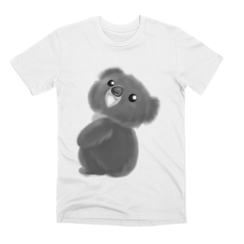 Fluffy Koala Men's Premium T-Shirt by Dino & Panda Inc Artist Shop