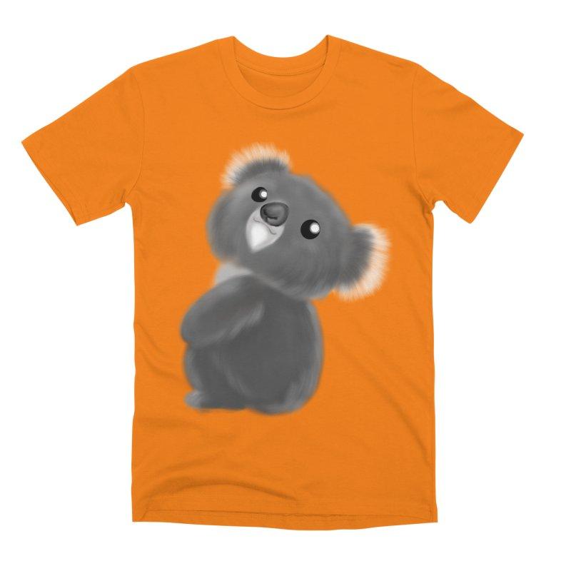 Fluffy Koala Men's T-Shirt by Dino & Panda Inc Artist Shop