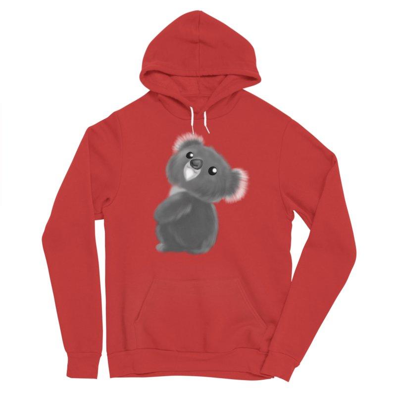 Fluffy Koala Women's Pullover Hoody by Dino & Panda Artist Shop