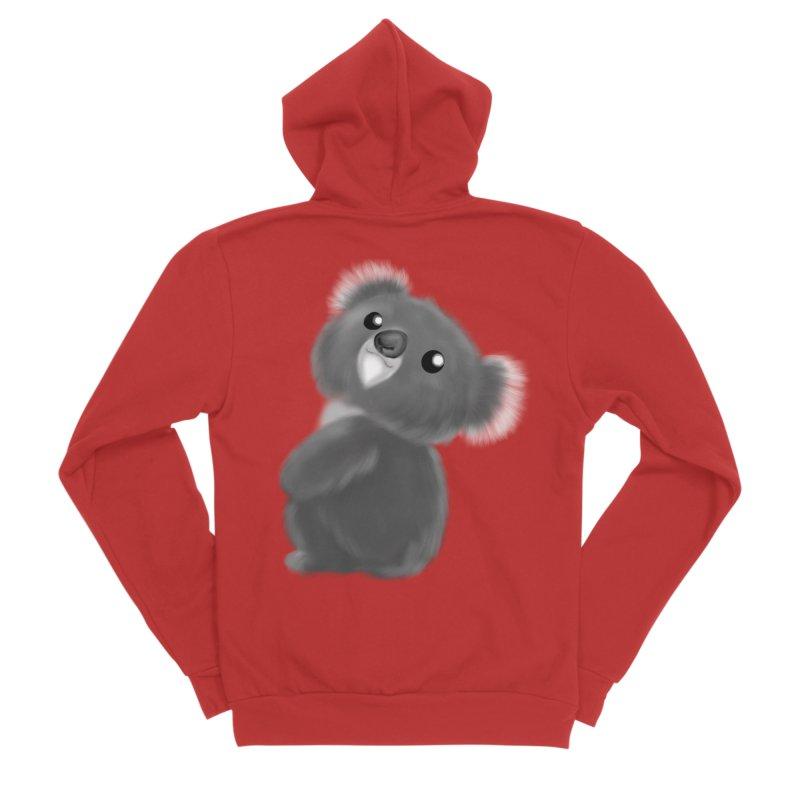 Fluffy Koala Women's Zip-Up Hoody by Dino & Panda Inc Artist Shop