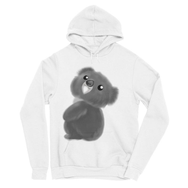 Fluffy Koala Men's Sponge Fleece Pullover Hoody by Dino & Panda Inc Artist Shop