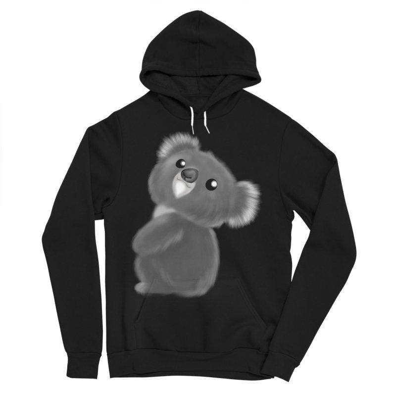 Fluffy Koala Women's Sponge Fleece Pullover Hoody by Dino & Panda Inc Artist Shop