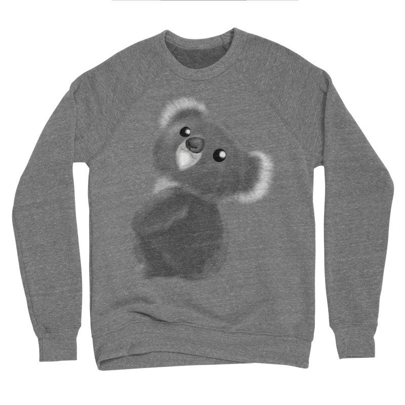 Fluffy Koala Men's Sponge Fleece Sweatshirt by Dino & Panda Inc Artist Shop