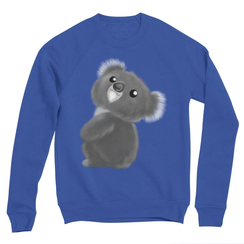 Fluffy Koala Men's Sweatshirt by Dino & Panda Artist Shop