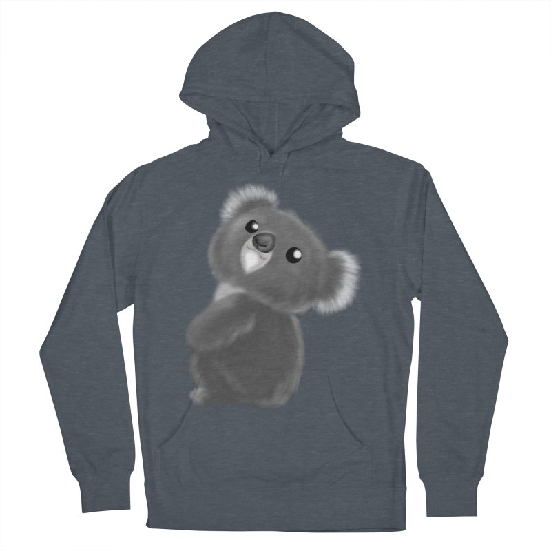 Fluffy Koala Men's French Terry Pullover Hoody by Dino & Panda Inc Artist Shop
