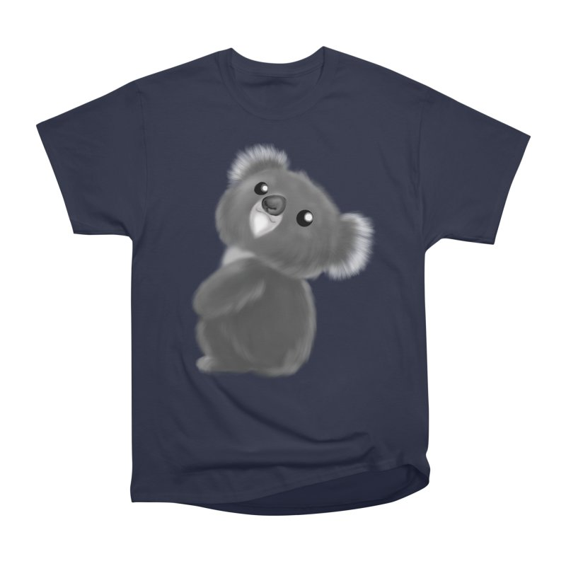 Fluffy Koala Women's Heavyweight Unisex T-Shirt by Dino & Panda Inc Artist Shop