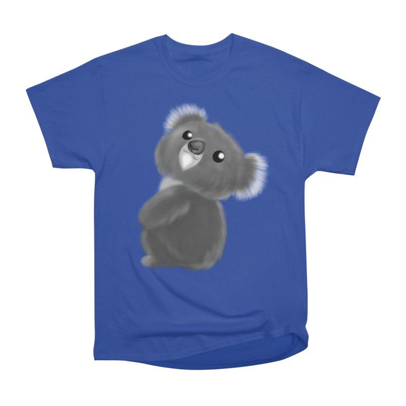 Fluffy Koala Men's Heavyweight T-Shirt by Dino & Panda Inc Artist Shop