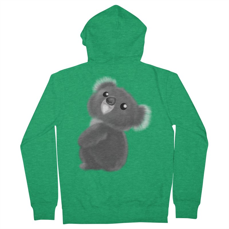 Fluffy Koala Men's Zip-Up Hoody by Dino & Panda Artist Shop