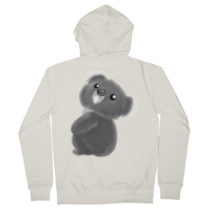Fluffy Koala Men's French Terry Zip-Up Hoody by Dino & Panda Inc Artist Shop